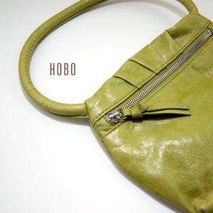 Vintage Green Leather Hobo Original Mini Handbag
